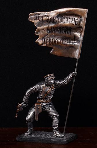 ОГПУшник, 1918 год. Чернёное олово. Артикул: h010t